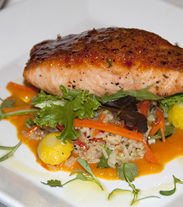 THAI-STYLE SALMON WITH SWEET CHILI-CURRY GLAZE