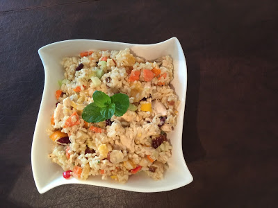 Mandarin and Brown Rice Chicken Salad