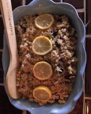 Nutty Lemony Brown Rice