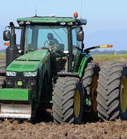 tractor doing field work