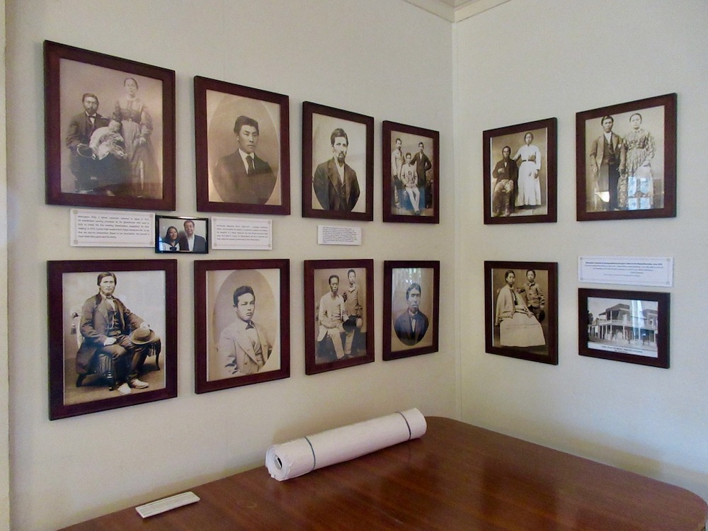 collection of historical portraits at Wakamatsu Farm