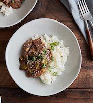 Sesame Beef Rice Bowls